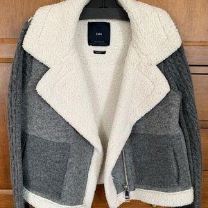 Zara knits oversized woollen coat